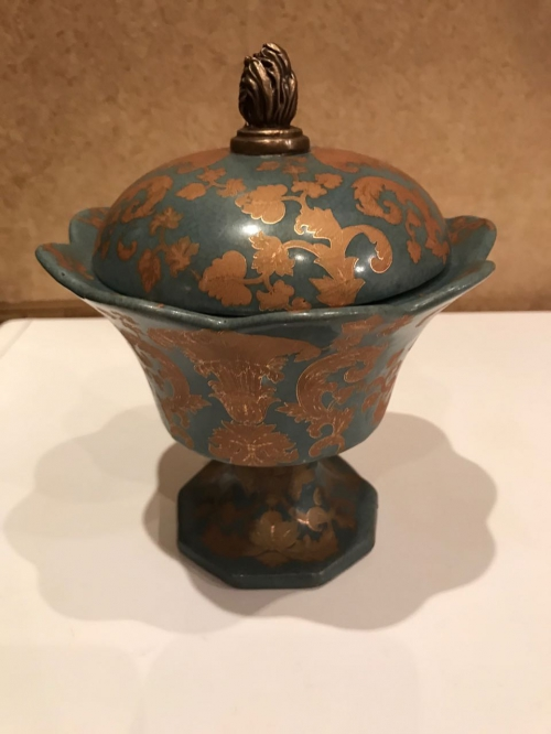 Вазочка фарфор, бронза, образец 1895г