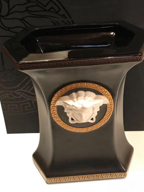 Ваза Versace Medusa Gorgona Rosenthal черная