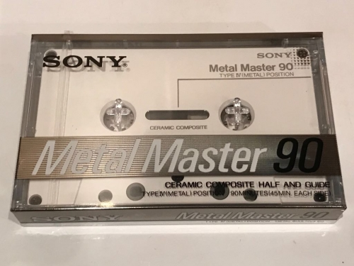 Аудиокассета sony Metal Master 90