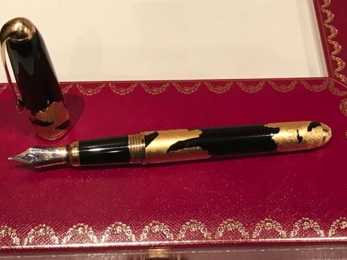 Ручка Cartier Louis Black Lacquer Gold Foils