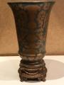Ваза фарфор, бронза, образец 1895г 30см