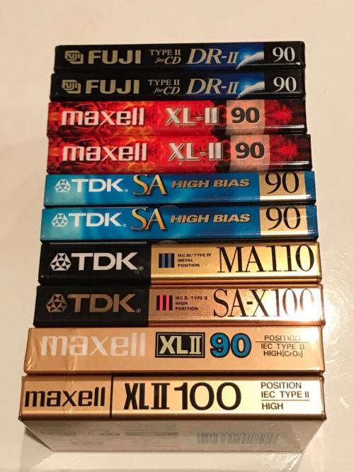 Аудиокассеты Лот из 10 кассет хром метал